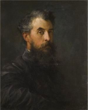 George Frederick Watts - Portrait Of A Gentleman, Possibly Wilfred Scawen Blunt