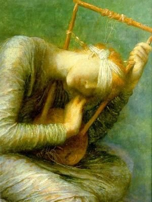George Frederick Watts - Hope   Detail