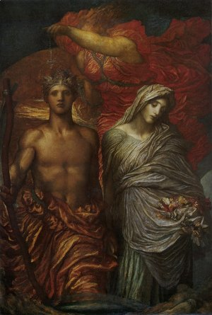 George Frederick Watts - Time  Death And Judgement