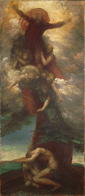 George Frederick Watts - The Denunciation Of Adam And Eve