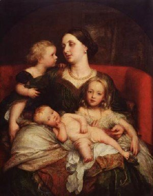 George Frederick Watts - Mrs George Augustus Frederick Cavendish Bentinck And Her Children