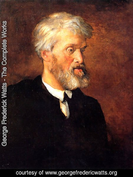 George Frederick Watts - Portrait Of Thomas Carlyle