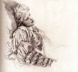 George Frederick Watts - Ellen Terry Asleep
