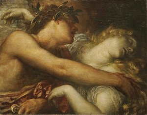 George Frederick Watts - Orpheus And Eurydice Detail