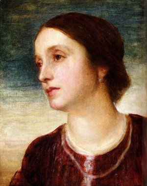 George Frederick Watts - Portrait Of The Countess Somers
